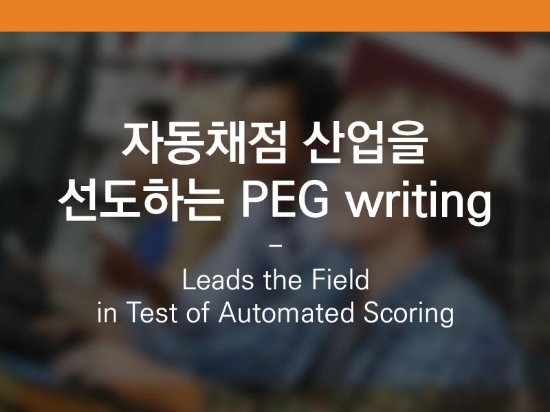 자동채첨 산업을 선도하는 PEG writing